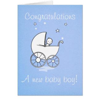 Baby boy - greeting card