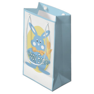 Baby Boy Happy Easter Bunny SGB Small Gift Bag