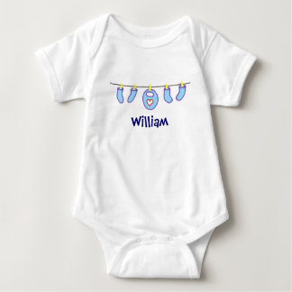 Baby Boy Laundry It's A Boy! Personalized Baby Bodysuit