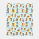 Baby Boy Little Bear Nursery Fleece Blanket