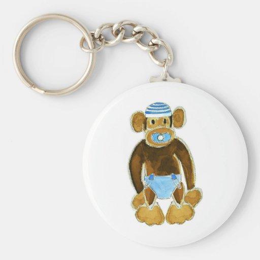 Baby Boy Monkey Diaper Keychains