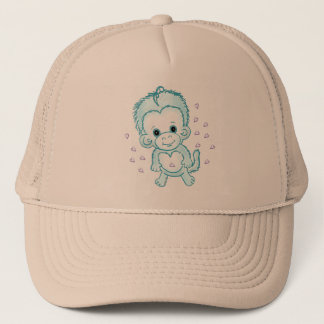 Baby Boy Monkey Trucker Hat