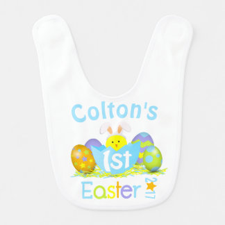 Baby Boy My First Easter Bib Babys 1st Easter