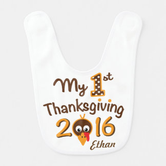 Baby Boy My First Thanksgiving Turkey Bib