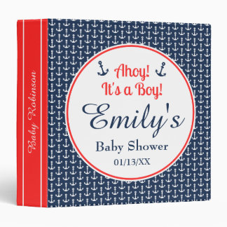 Baby Boy Nautical Baby Shower Binder