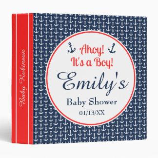 Baby Boy Nautical Baby Shower Binder