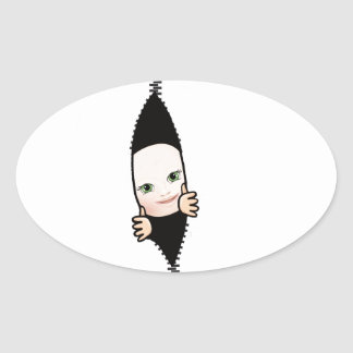 baby boy oval sticker
