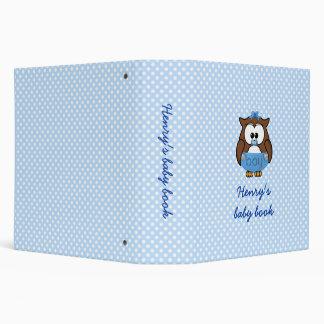 baby boy owl vinyl binders