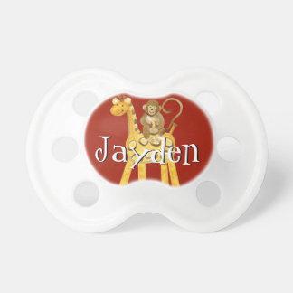 Baby Boy Pacifier - Little Jungle Animal Giraffe