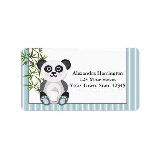 Baby Boy Panda, Stripes Label