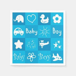 Baby boy paper napkin