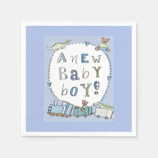Baby Boy Paper Napkins