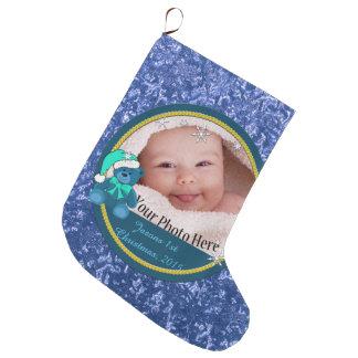 Baby Boy Personalized Large Christmas Stocking