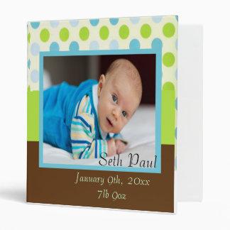 Baby Boy Photo Announcement Binder