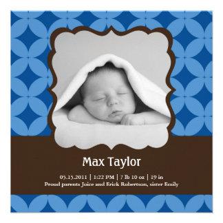 Baby Boy Photo Birth Announcement