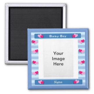 Baby Boy Photo Frame Magnet