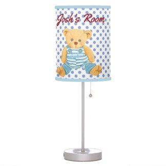 Baby Boy Polka Dot & Teddy Bear Table Lamp