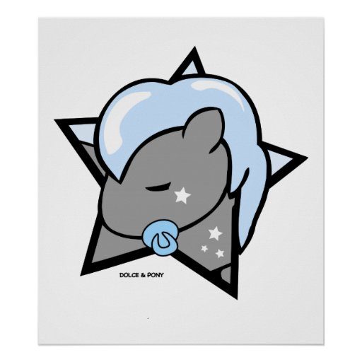 Baby Boy Pony | Poster 24x24 Dolce & Pony