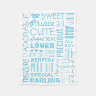 Baby Boy Princely Fleece Blanket