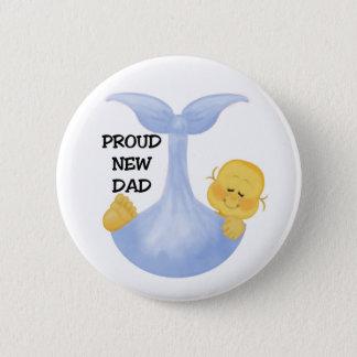 Baby Boy Proud Dad 2 Inch Round Button