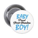 Baby Boy Proud Great Grandma Pins