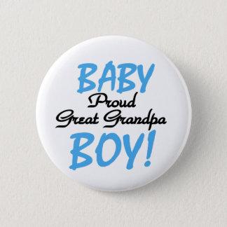 Baby Boy Proud Great Grandpa 2 Inch Round Button