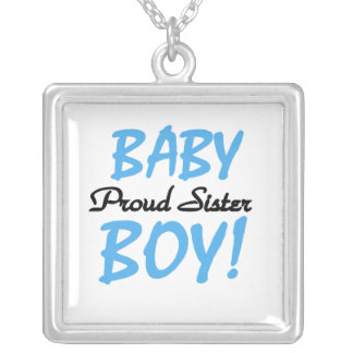 Baby Boy Proud Sister Gifts Silver Plated Necklace