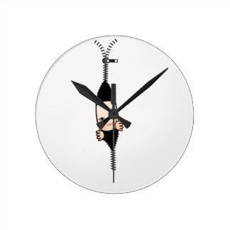 baby boy round clock
