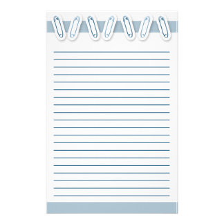 Baby Boy Safety Pin Stationery