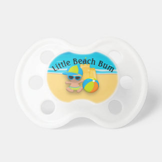 Baby Boy Sand Castle and Beach Ball Beach Bum Pacifier