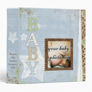 Baby Boy Scrapbook Photo Album Binder
