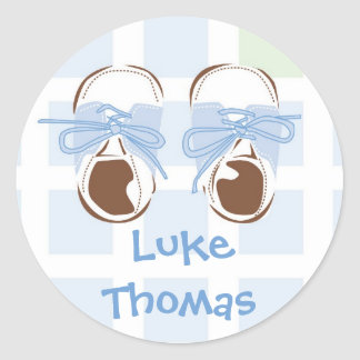 Baby Boy Shoe Gift Label