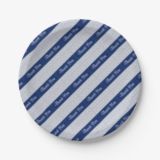 Baby Boy Shower Stork Blue Favors Party Supplies Paper Plate