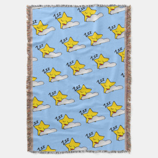 Baby Boy Sleepy Time Zzz Stars and Clouds on Blue Throw