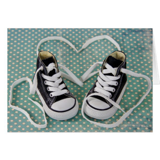 Baby Boy Sneakers Card