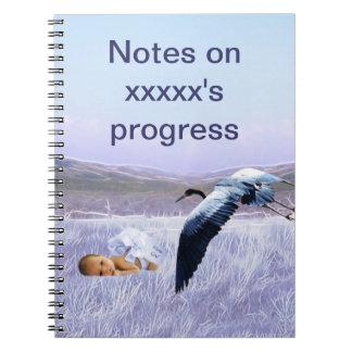 Baby boy spiral note book