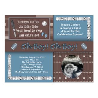 Baby Boy Sports Shower Postcard