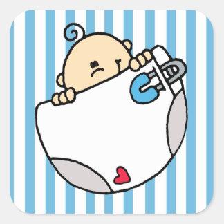 Baby Boy Square Sticker