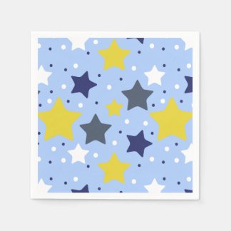 Baby Boy Star Light Paper Napkin
