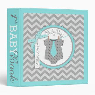 Baby Boy Tie Memory Book Album Vinyl Binder