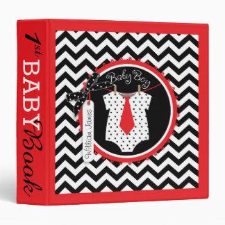 Baby Boy Tie Memory Book Album Vinyl Binders