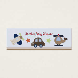 Baby Boy Transportation Favor/Tags Mini Business Card