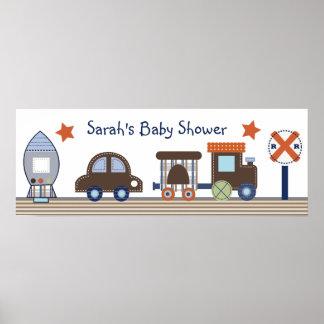 Baby Boy/Transportation/ Poster/Banner