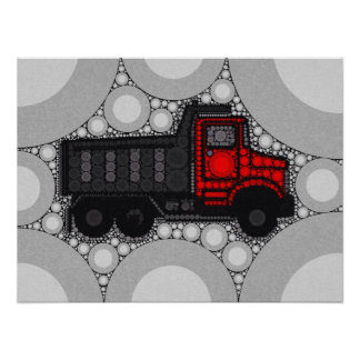 Baby Boy Truck Patterned Poster Posters