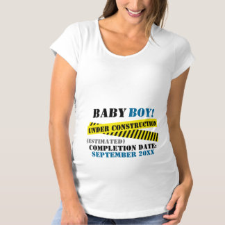Baby Boy Under Construction Maternity T-Shirt
