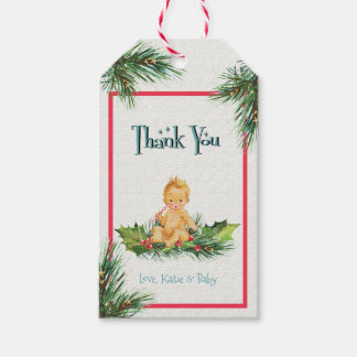 Baby Boy | Winter Baby Shower Thank You Tag