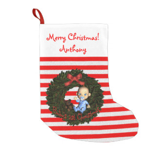 Baby Boy's 1st Christmas Small Christmas Stocking