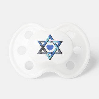 Baby Boy's Blue Star of David Hanukkah Pacifier