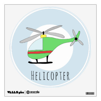 Baby Boys Colorful Helicopter Aircraft Nursery Wall Sticker