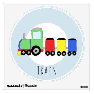 Baby Boys Colorful Locomotive Train Nursery Wall Sticker